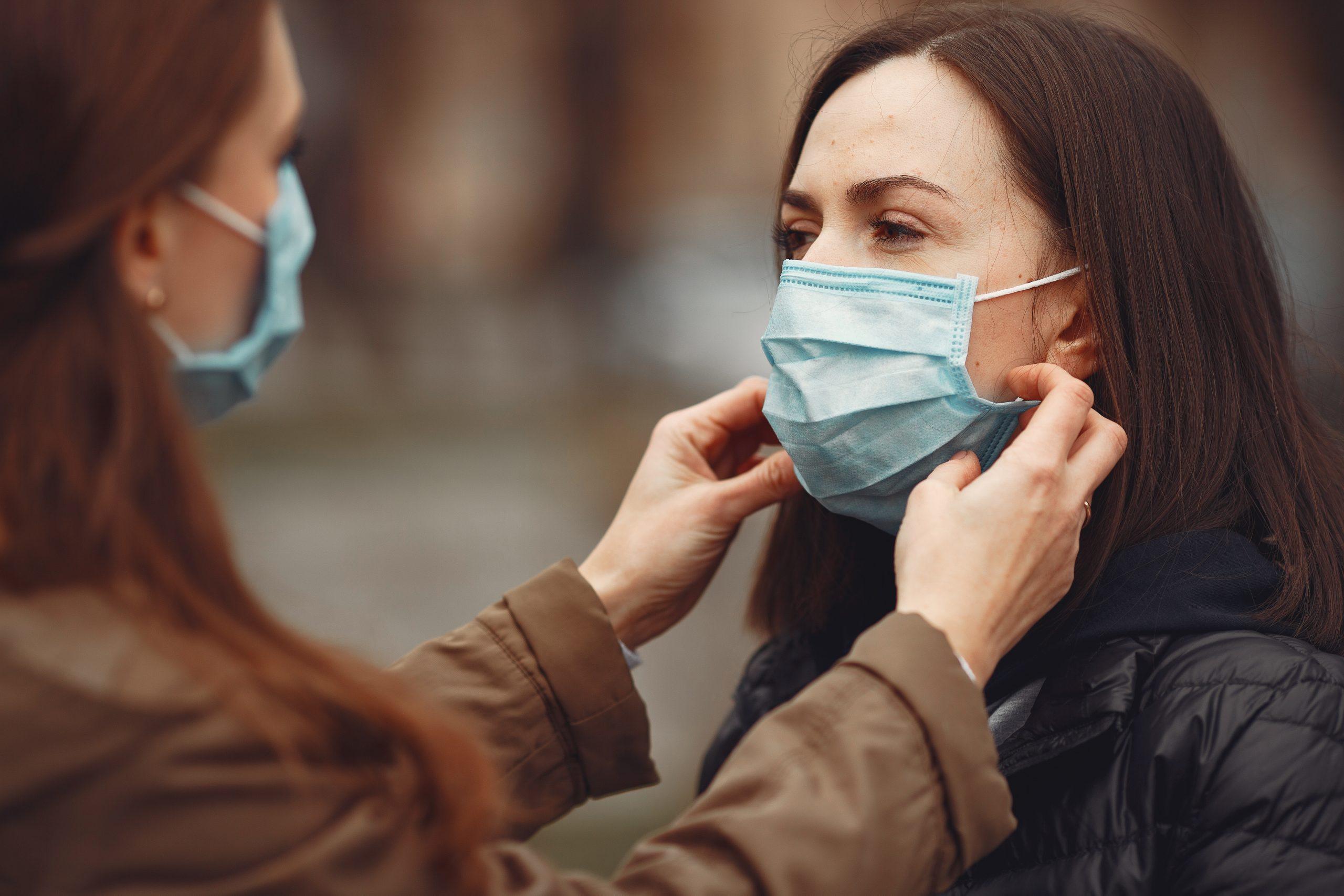 Women wearing mask in public