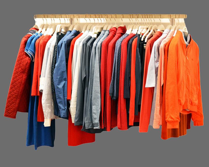 clothes line wardrobe